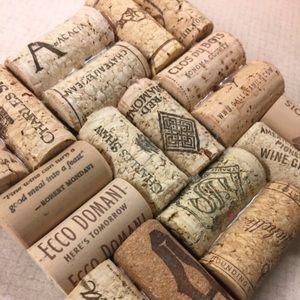 Handmade wine cork pot holder trivet
